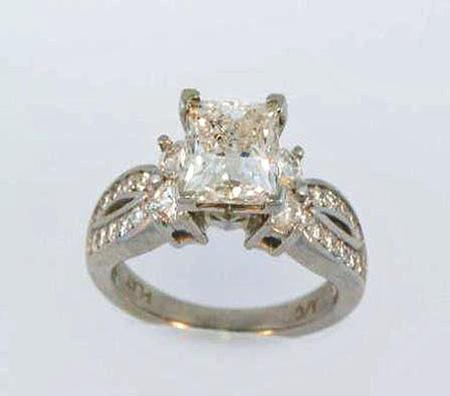 Platinum Engagement Ring     Select Center Stone             A35855