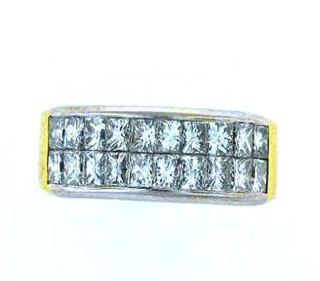 18kt Yellow Gold Princess Cut Diamond Band                        F4212