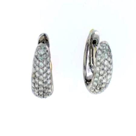 14k White Gold Pave Diamond Earrings            17-00024