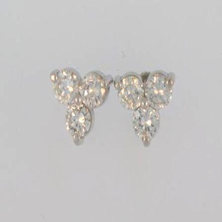 14k White Gold Diamond Earrings        17-00081