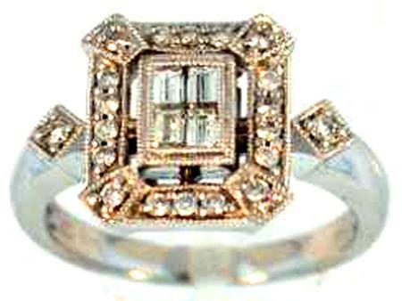 14k White Gold Diamond Ring     05-00052