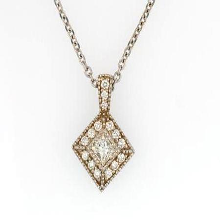 18k White Gold Diamond Pendant                        41-00006