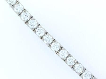 14k White Gold Diamond Tennis Bracelet      11-00003