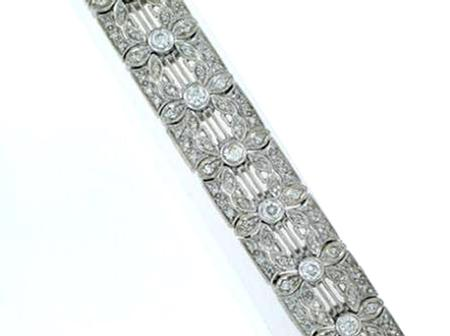 14k White Gold Diamond Bracelet                                   F5095