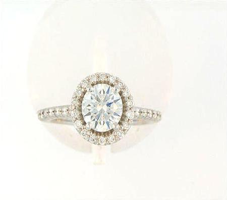 14k White Gold Diamond Engagement Ring               A36524